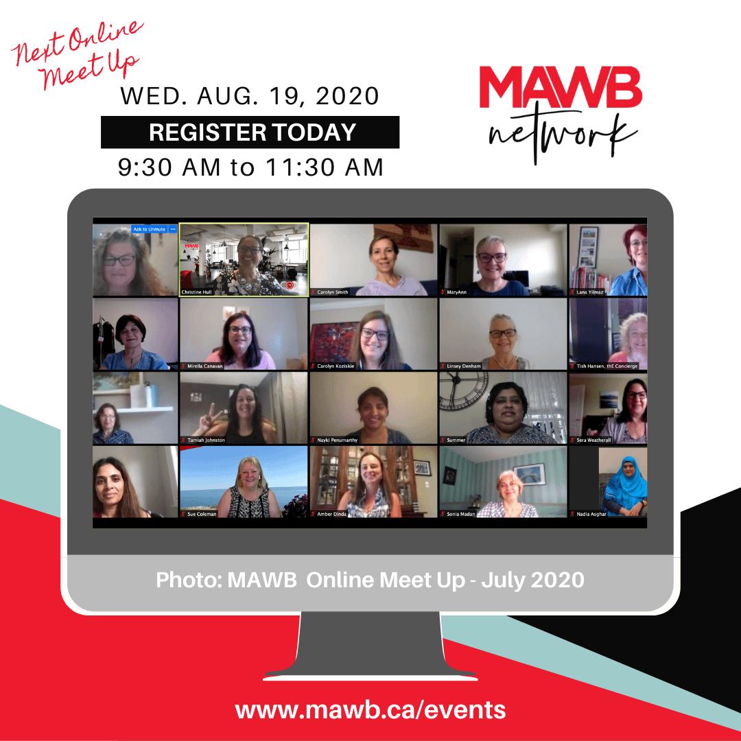 MAWB August 19th Online Meet Up