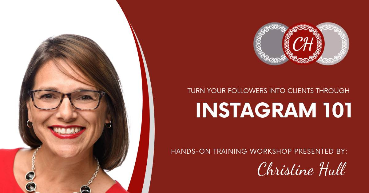 Instagram 101 Training Workshop with Christine Hull