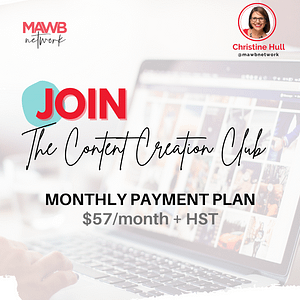 MAWB Content Creation Club - Monthly Payment Plan Option