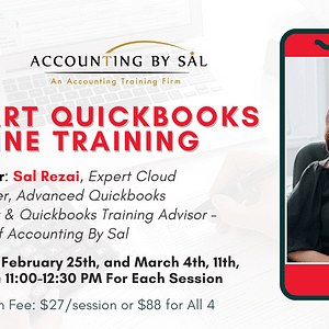 4-Part QuickBooks online training with Sal