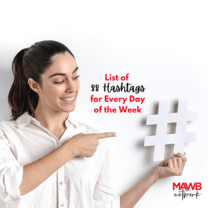 List of 88 Hashtags for every day of the week - #themedays